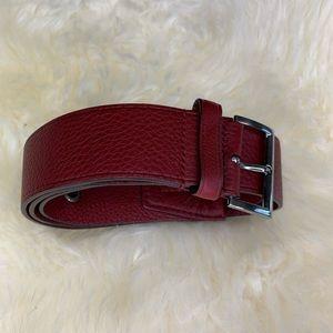 Prada Wine Color Belt Size 32 | 80